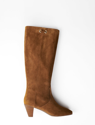 Maje Brown suede sock boot