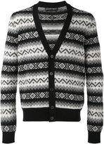 Alexander McQueen patterned V-neck cardigan - men - Cashmere - S