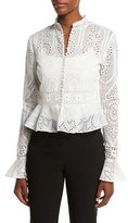 Nicholas Vintage Eyelet Lace Blouse, Antique White