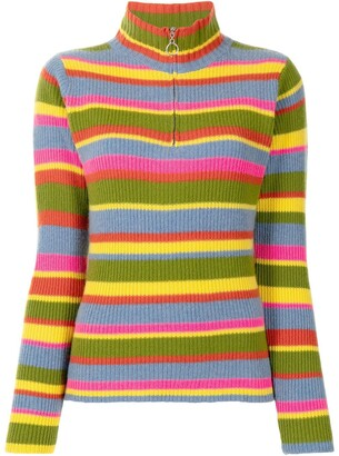 The Elder Statesman Rainbow Knit Jumper