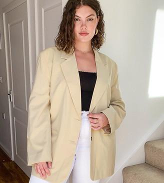 Collusion Plus exclusive tan blazer