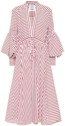 Rosie Assoulin Lantern cotton-blend midi dress