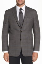 Hart Schaffner Marx Men's Classic Fit Plaid Stretch Wool Sport Coat