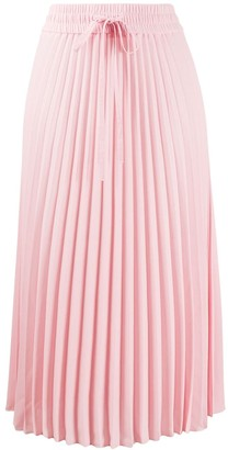 RED Valentino Drawstring Pleated Skirt
