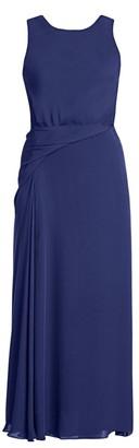 Giorgio Armani Silk Drape Detail Cocktail Dress