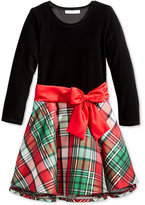 Bonnie Jean Plaid Drop-Waist Special-Occasion Dress, Toddler & Little Girls (2T-6X)