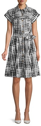 Calvin Klein Abstract Short-Sleeve Shirtdress