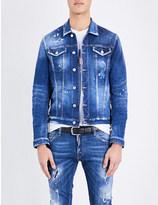 DSQUARED2 Distressed stretch-denim jacket