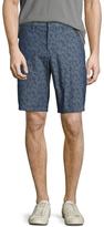John Varvatos Linen Flatiron Printed Shorts
