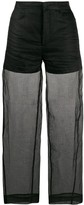 Totême Sheer Cropped Trousers