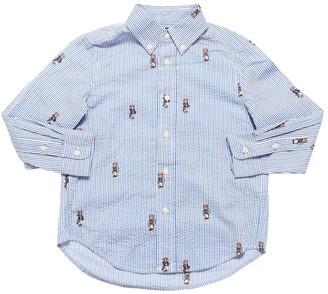 Ralph Lauren Bear Printed Seersucker Shirt