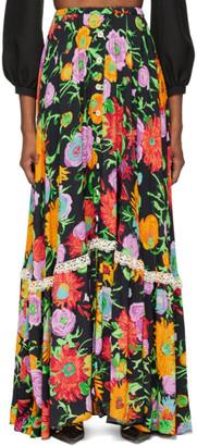 Gucci Black Ken Scott Edition Print Skirt
