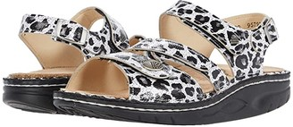 Finn Comfort Tiberias (Black/White/Leopard Print) Women's Toe Open Shoes