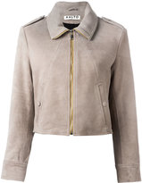 Aalto cropped jacket - women - Lamb Skin/Rayon - 36