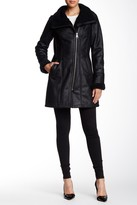 7 For All Mankind Faux Shearling Asymmetric Zip Coat
