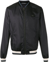 Dolce & Gabbana striped trim bomber jacket