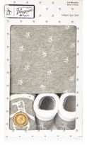River Island Mini boys grey Penguin babygrow gift set