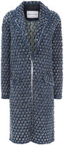 Sonia Rykiel Indigo Textured Denim Boyfriend Coat