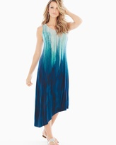 Soma Intimates Asymmetrical Midi Dress Untold Ombre Ocean