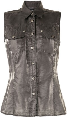 Versace Pre-Owned Metallic Sleeveless Shirt