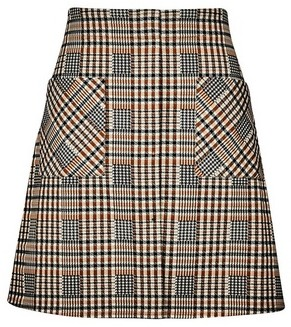 Dorothy Perkins Womens Multi Colour Check Print Mini Skirt, Multi Colour