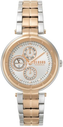 Versus Women's Bellville Swarovski Crystal Two-Tone Bracelet Watch, 38mm