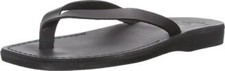 Jerusalem Sandals Jaffa - Leather Flip Flop Sandal | Black