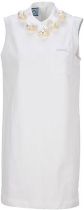 Prada Shells Embellished Tunic Dress