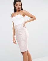 Lipsy Bandeau Cut Out Midi Dress