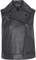 Vince Textured-leather vest