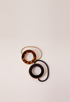 Missguided Brown 2 Pack Tortoise Shell Cirlce Hair Ties