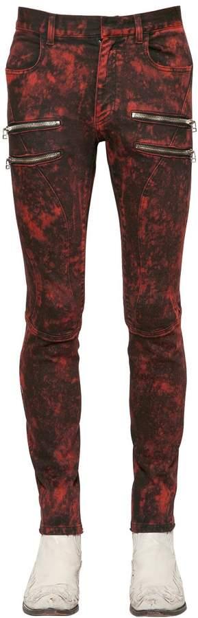 Faith Connexion 16cm Acid Washed Denim Biker Jeans
