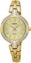 Seiko Womens Gold Tone Bracelet Watch-Sup346