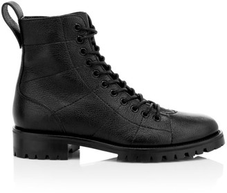 Jimmy Choo Cruz Leather Combat Boots