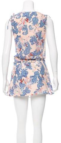 Twelfth Street By Cynthia Vincent Paisley Printed Chiffon Dress
