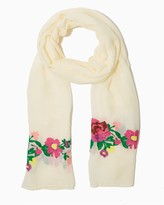 Charming charlie Plush floral embroidered scarf