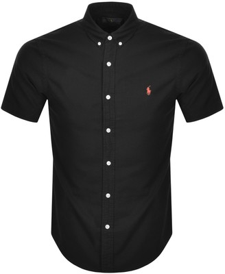 Ralph Lauren Slim Fit Short Sleeved Shirt Black