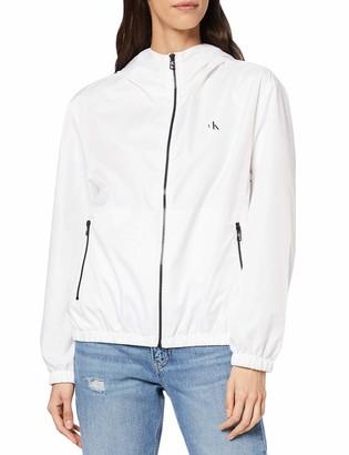 Calvin Klein Jeans Women's Large CK Logo Hooded Zip Through Jacket