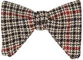 Gucci Men's Houndstooth Cotton-Wool Knit Bow Tie