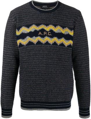 A.P.C. Ben jacquard logo jumper