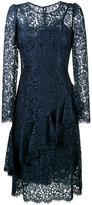 Dolce & Gabbana lace ruffle mid dress - women - Cotton/Viscose/Polyamide/Spandex/Elastane - 42