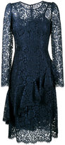 Dolce & Gabbana lace ruffle mid dress - women - Silk/Cotton/Polyamide/Viscose - 42