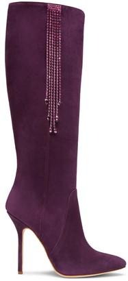 Alexis Isabel Clarissa Plum Suede Boots