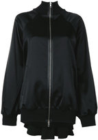 Maison Margiela pleated back satin bomber jacket - women - Cotton/Viscose/Virgin Wool - 38