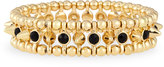 Jules Smith Designs Small Golden Spike Stretch Bracelet, Black