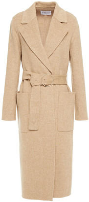 Claudie Pierlot Belted Wool-blend Felt Coat