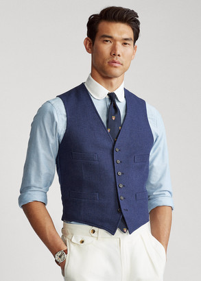 Ralph Lauren Wool-Silk-Linen Tweed Vest