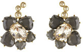 Oscar de la Renta Faceted Resin Flower Clip-On Earrings