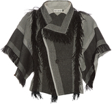 Issey Miyake Parrot fringed checked jacket