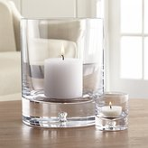 Crate & Barrel Direction Glass Candle Holders